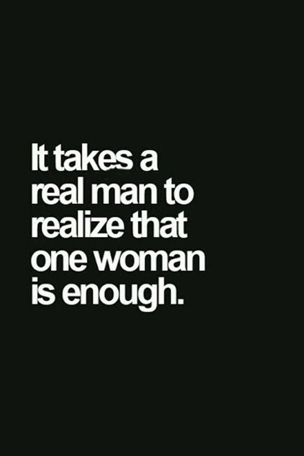 It takes a real man