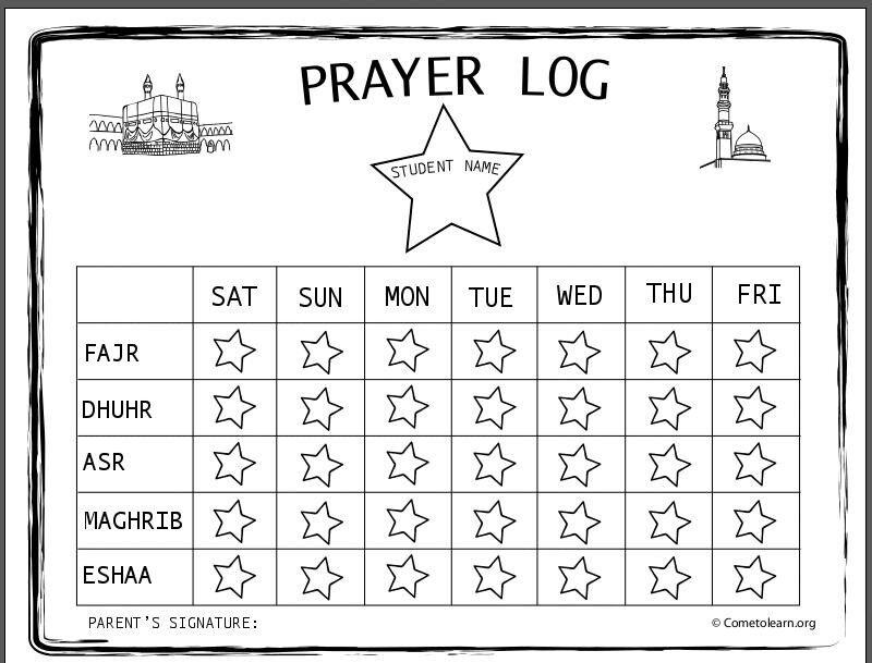 namaz time table chart pdf
