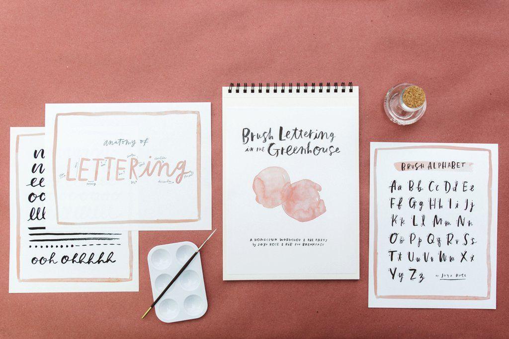 JOYA ROSE    hand-lettering workshop - fresh blueprint 3 commercial