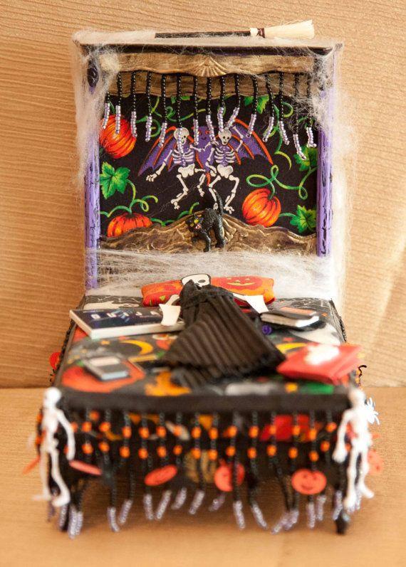 Dollhouse Miniature Halloween Furniture by LaBoutiqueRueDeParis, $25.00