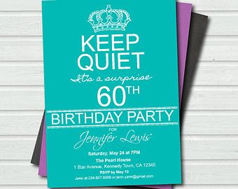 Surprise 60th Birthday Invitation Templates Free   Google Search  Birthday Invitation Designs Free