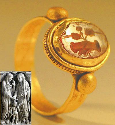 Roman Gold 'Handfast' Wedding Ring