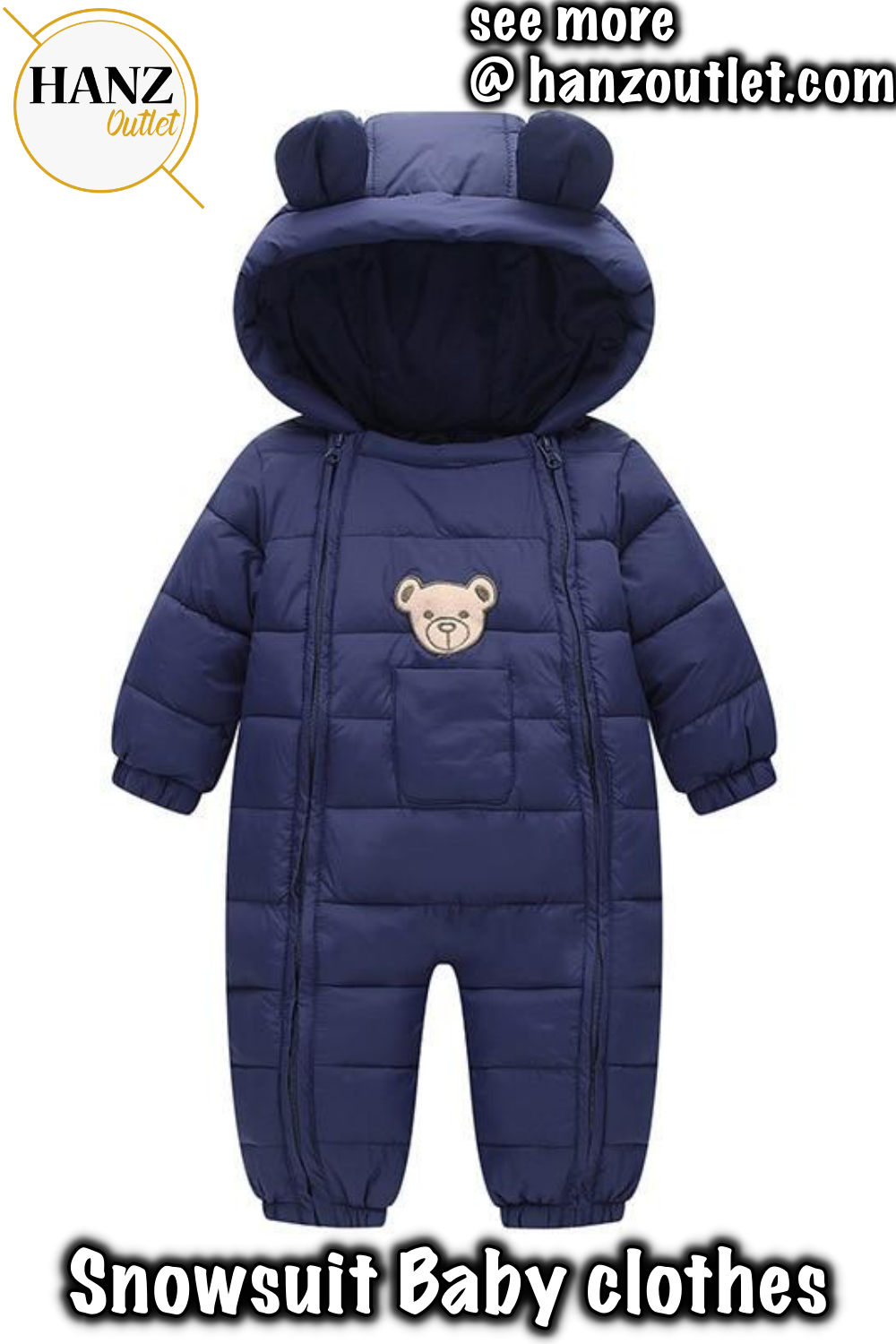 8457dcbbe0984 Snowsuit Baby clothes Snow wear Cotton Padded One Piece Warm Outerwear  Overalls Romper Kids Winter Jumpsuit Newborn Parkas  Snowsuit  BabySnowsuit   clothes ...