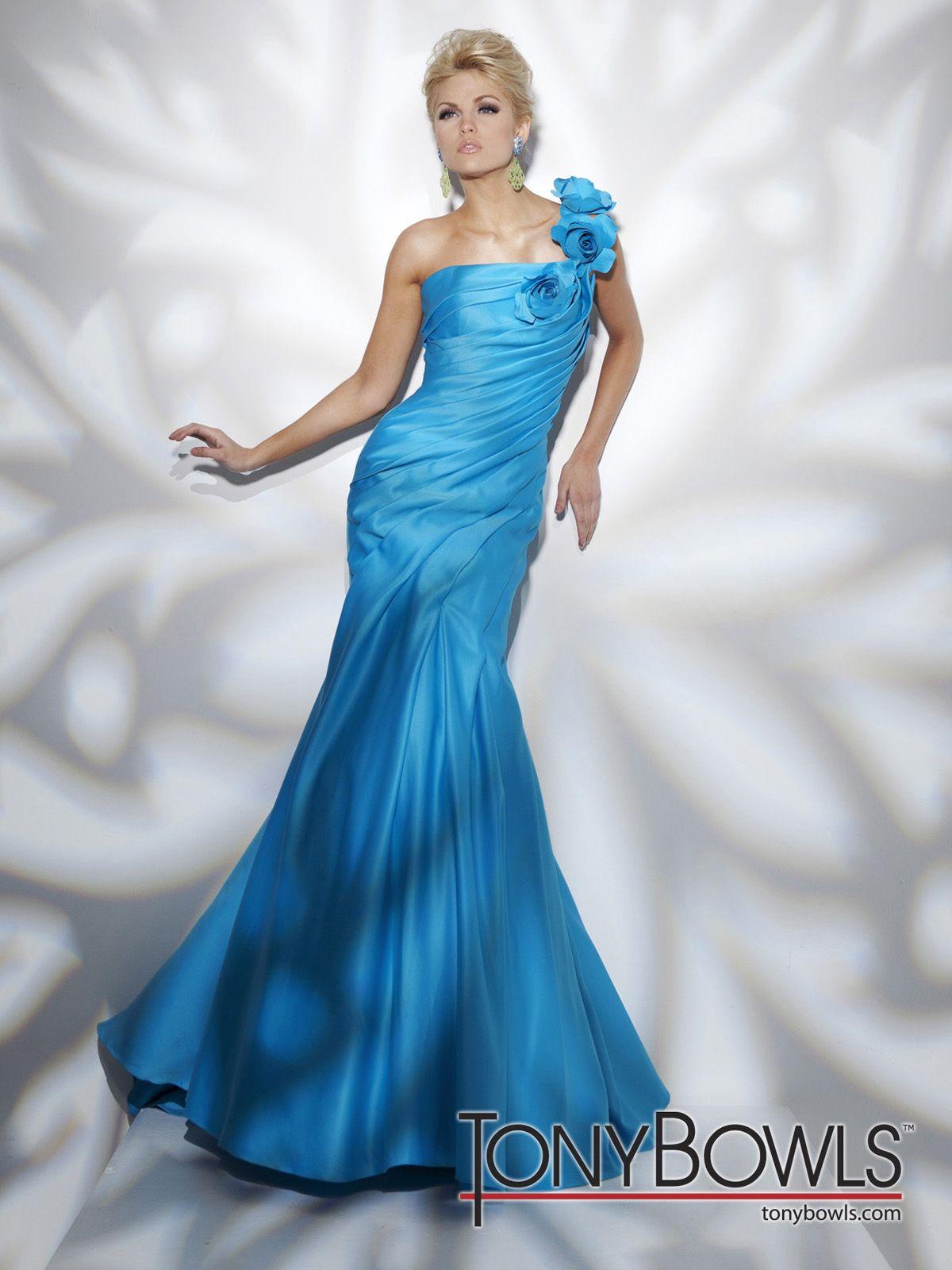 Tony Bowls, Bridesmaid Dress - Style #211C57: One-shoulder satin ...