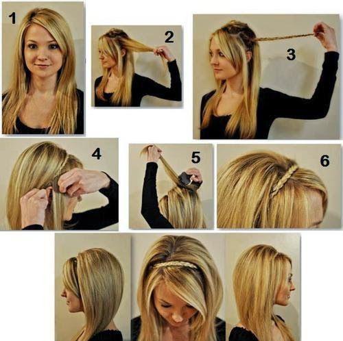 penteado fácil: tiara de trança