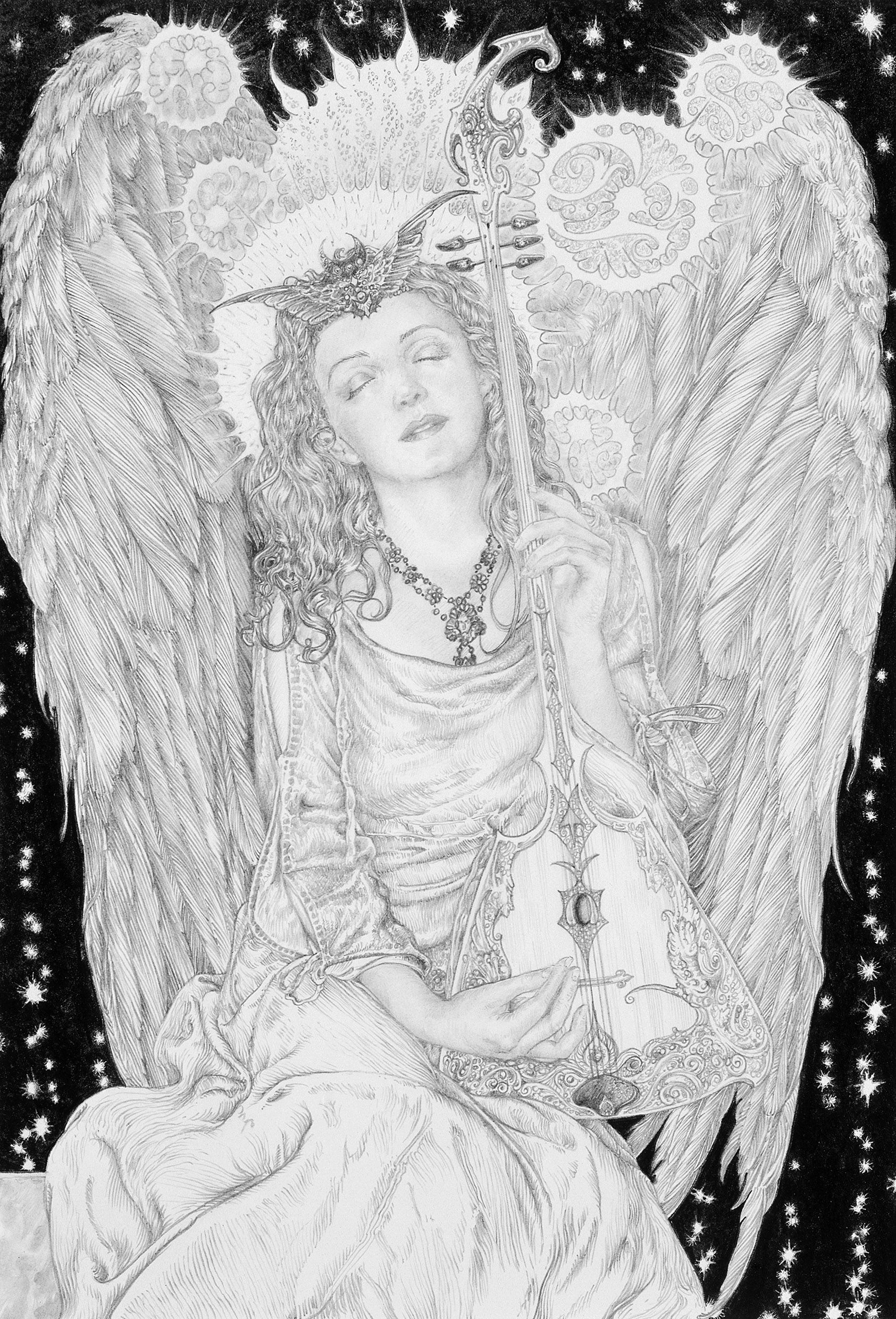 Angel by Ed Org.  Ed Org will be having a solo show at Obsidian Art Gallery from 15 Feb - 17 March 2013.  http://www.obsidianart.co.uk