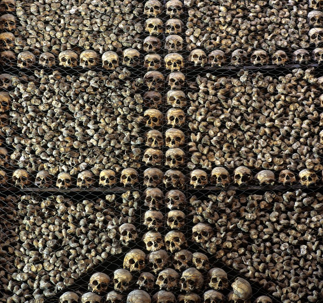 San Bernardino alle Ossa is a church in Milan, northern Italy, best known for its ossuary, a small side chapel decorated with numerous human skulls and bones.