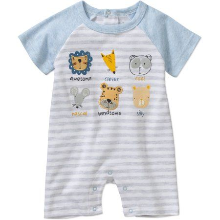d03b6ac64 Rene Rofe Newborn Baby Boy One Piece Romper, Size: 0 - 3 Months, Gray
