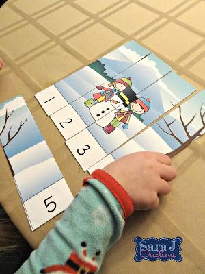 Sequencing practice made easy and fun with winter scenes.