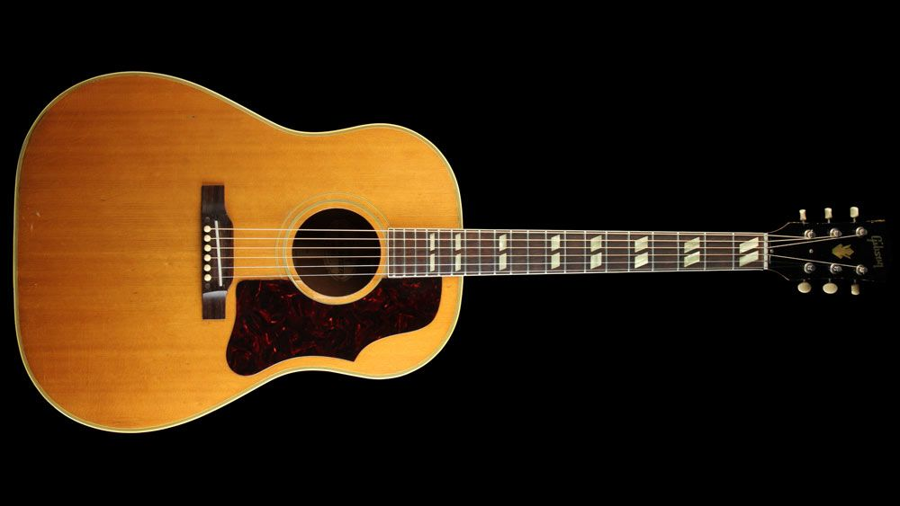 Gibson Vintage Late 50 S Country Western Southern Jumbo Acoustic Guitar Natural Used The Music Zoo Acoustic Guitar Guitar Acoustic