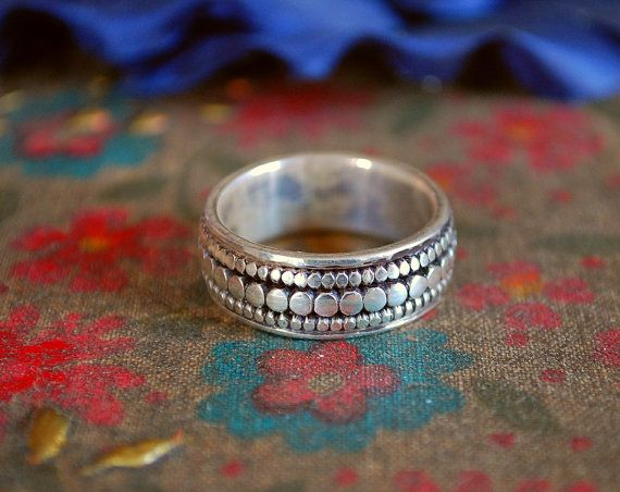 Ethnic Band Ring by CosmicNorbu on Etsy