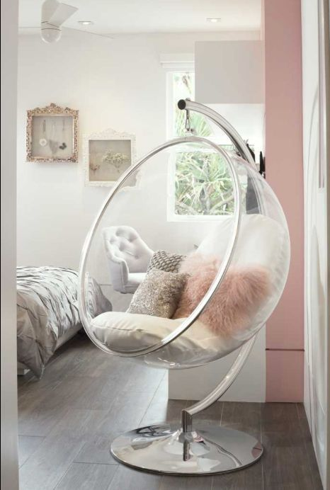 After Saarinen Created The Bubble Chair He Wanted To Have Light Inside It And So He Had The Idea Of A Transpare Bedroom Design Bedroom Decor Cute Bedroom Ideas