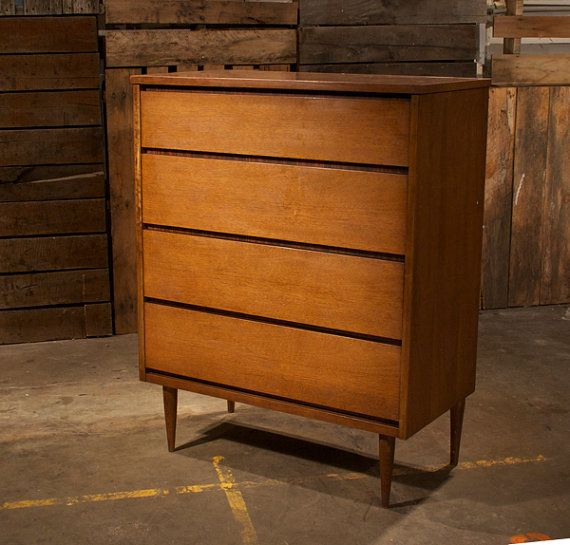 Mid Century Danish Modern Bett Tall Boy Dresser On Etsy 550 00