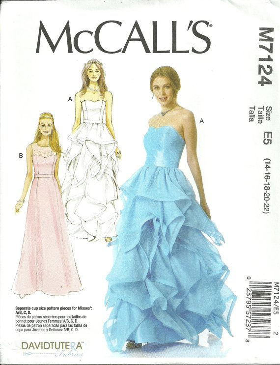 Misses Dress Lined Long Formal, Close Fitting Bodice and Skirt With ...