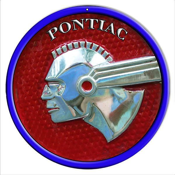 Pontiac Oldsmobile Garage Shop Reproduction Sign 14″ Round