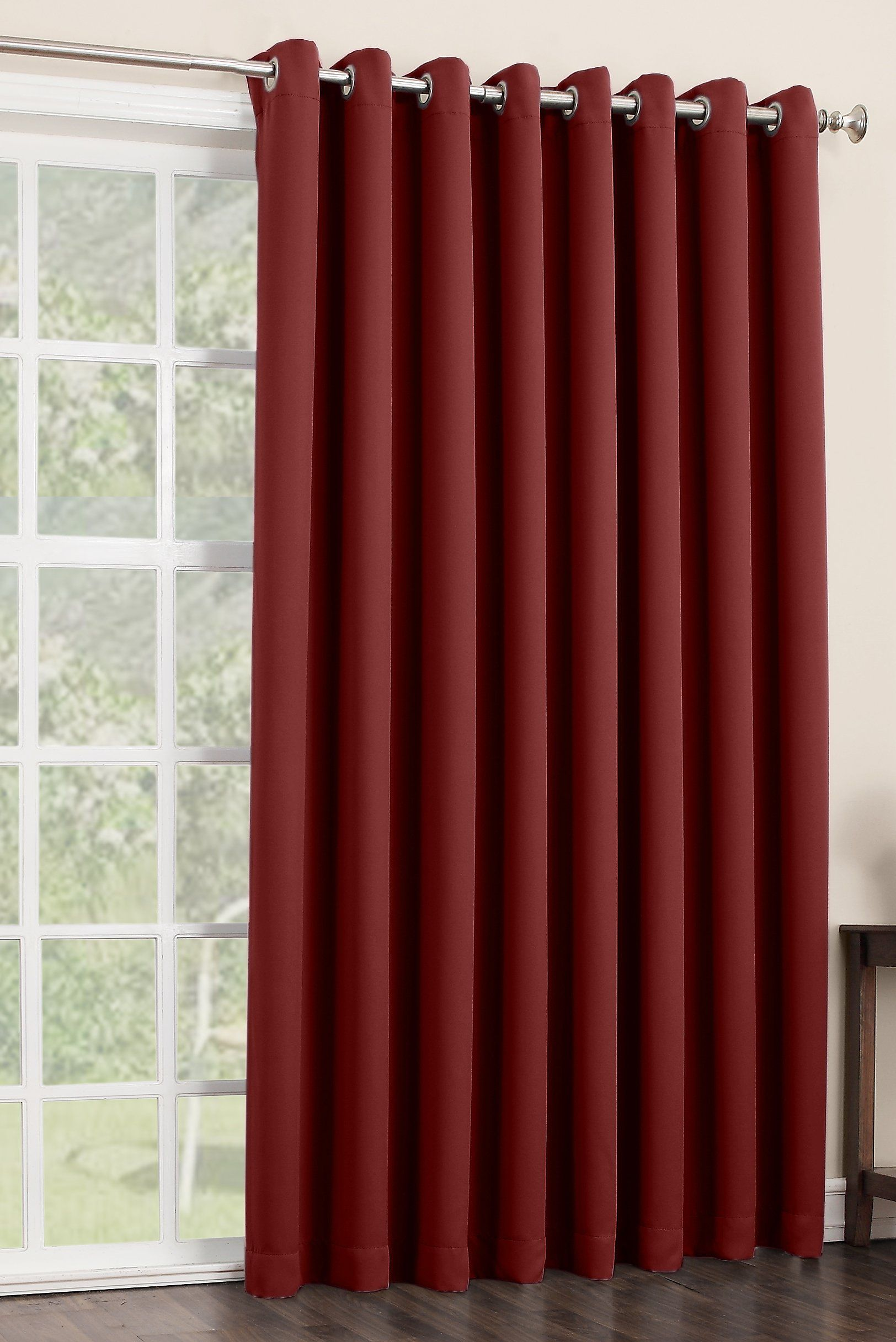 Amazon Com Sun Zero Easton Extra Wide Blackout Patio Curtain Panel 100 By 84 Inch Soli Glass Door Curtains Sliding Glass Door Curtains Patio Door Coverings