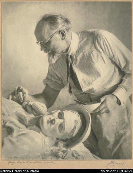 Harold Cazneaux, 1878-1953. George Lambert, artist and sculptor