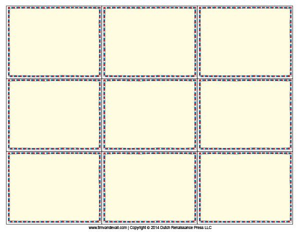 Superb Blank Flash Card Templates | Printable Flash Cards | PDF Format