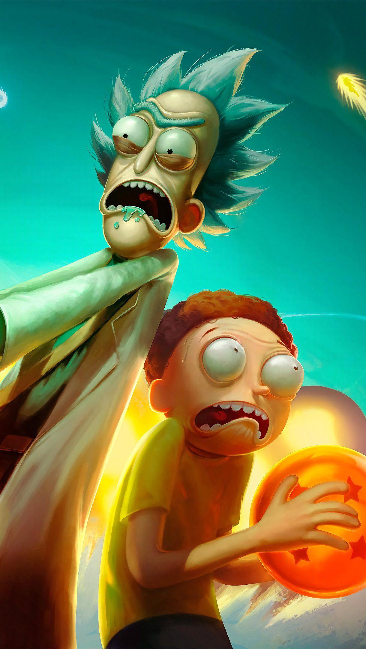Fondos De Pantalla Anime Rick Y Morty En Universo De Dragon Ball Vertical Fondo De Pantalla De Dibujos Animados Personajes De Rick Y Morty Dibujo De Perro