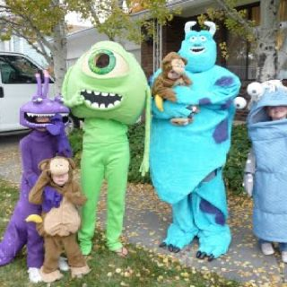 Monsters Inc Monsters Inc Halloween Costumes Monsters Inc Halloween Family Halloween Costumes