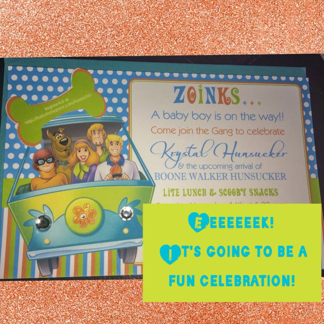 Baby shower invite. Scooby Doo | Hunnybaby | Pinterest | Babies ...