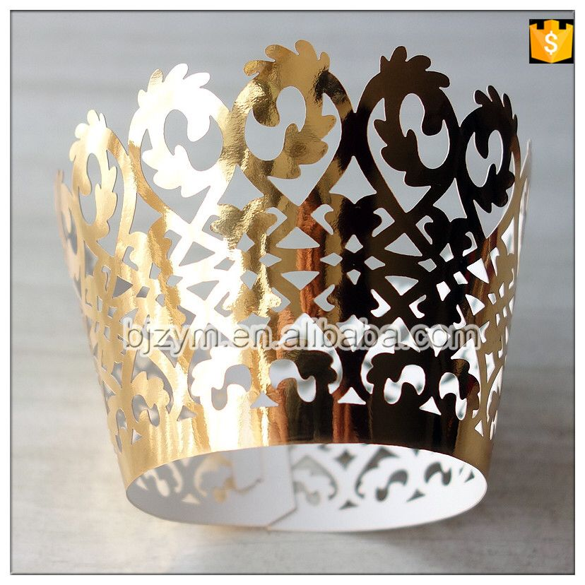Check out this product on Alibaba.com APP NEW 2016 gold paper fondant cake decorating tools Wraps Cupcake Wrapper for baby shower wedding engagement