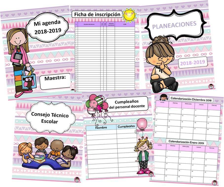 agendas escolares | Agenda escolar para imprimir, Agenda