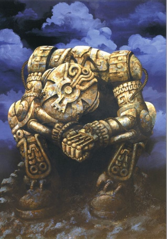 Behold, the Aztec mecha and Mayan cyborgs of our Mesoamerican future #aztec