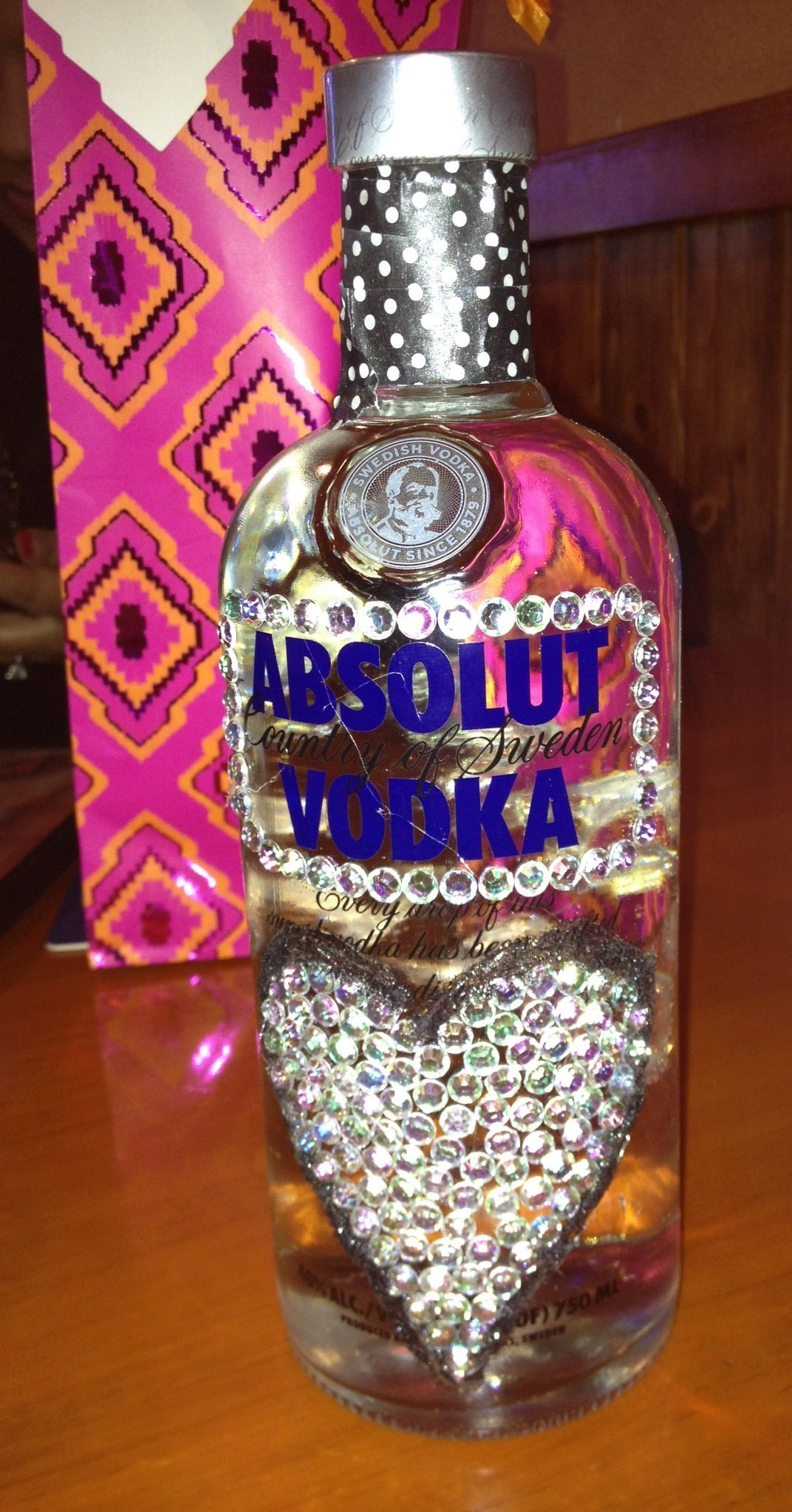 Bedazzled Vodka Bottle For A Gift Things I Made