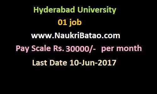 Consultant In Engineering And Accounts Hyderabad University Recruitment 2017 Graduate Jobs Https Www Naukribatao Graduate Jobs University Recruitment Job