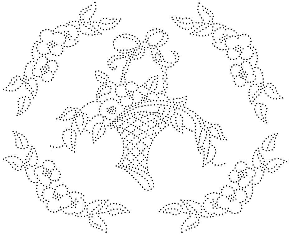 Another basket design the dots would be cute done in a running 1924 ladies home journal embroidery pattern catalog dt1010fo