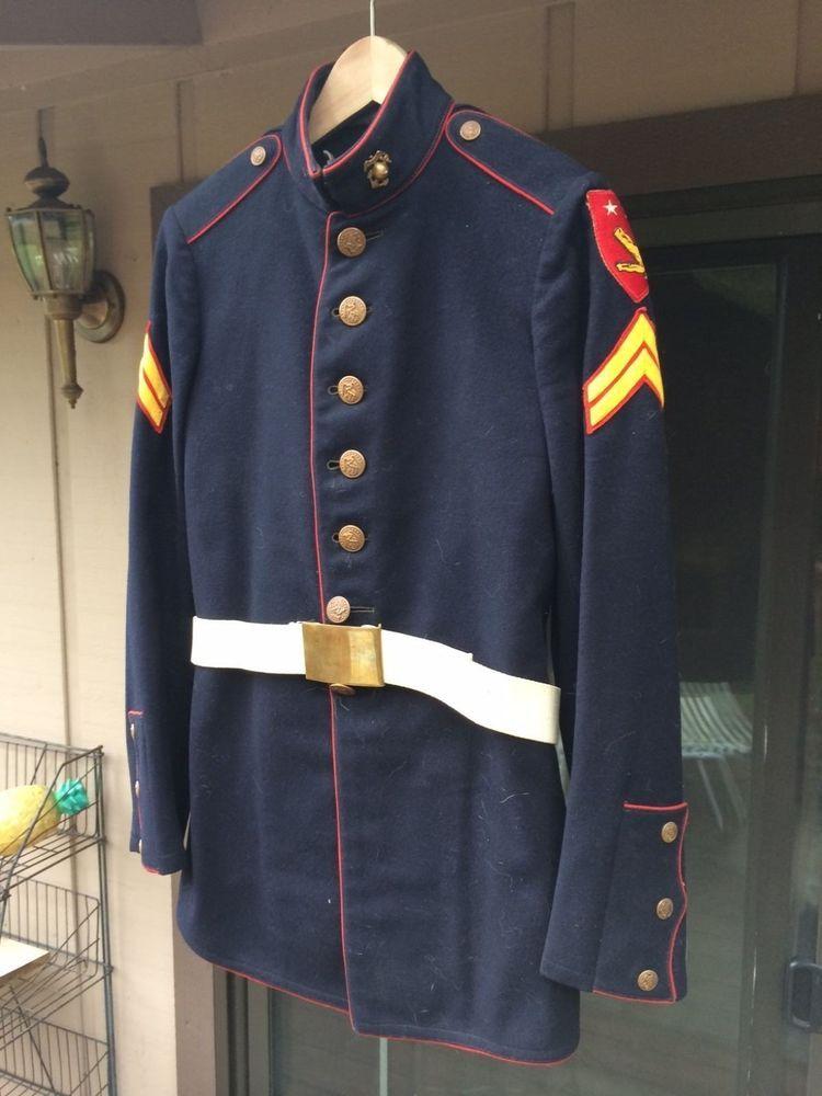 how to put on marine dress blues