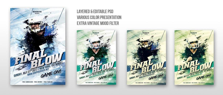 Final Blow Sport Flyer Template Print Templates Pinterest