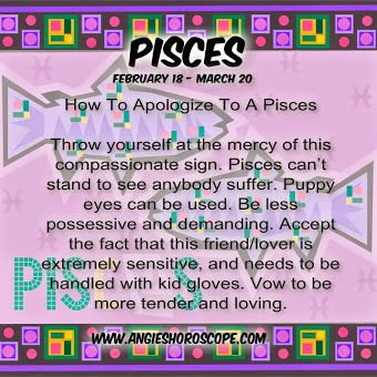 How To Apologize To A Pisces Woman