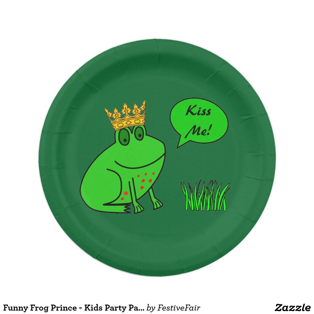 Funny Frog Prince - Kids Party Paper Plates  sc 1 st  Pinterest & Funny Frog Prince - Kids Party Paper Plates | Funny frogs
