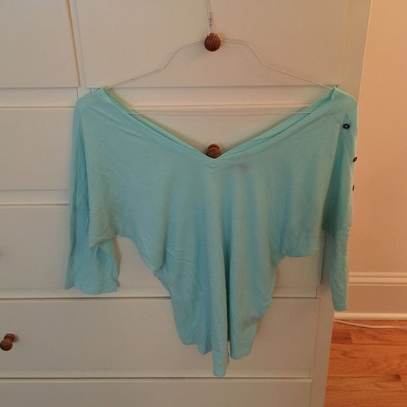 Express Baby Blue 3/4 length sleeve top Light weight fabric and comfortable. Like-new condition. Express Tops Tees - Long Sleeve