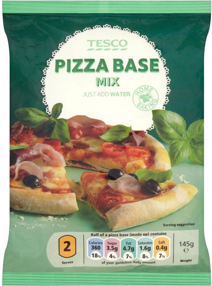 Tesco Pizza Base Mix 145g Customer Favourites Home