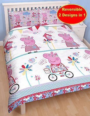 Peppa Pig Tweet Reversible Double Duvet Quilt Cover Bedding Set