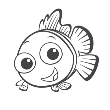 Coloriage Nemo Est Content Dibujos Para Pintar Nemo Dibujo Princesa Para Pintar