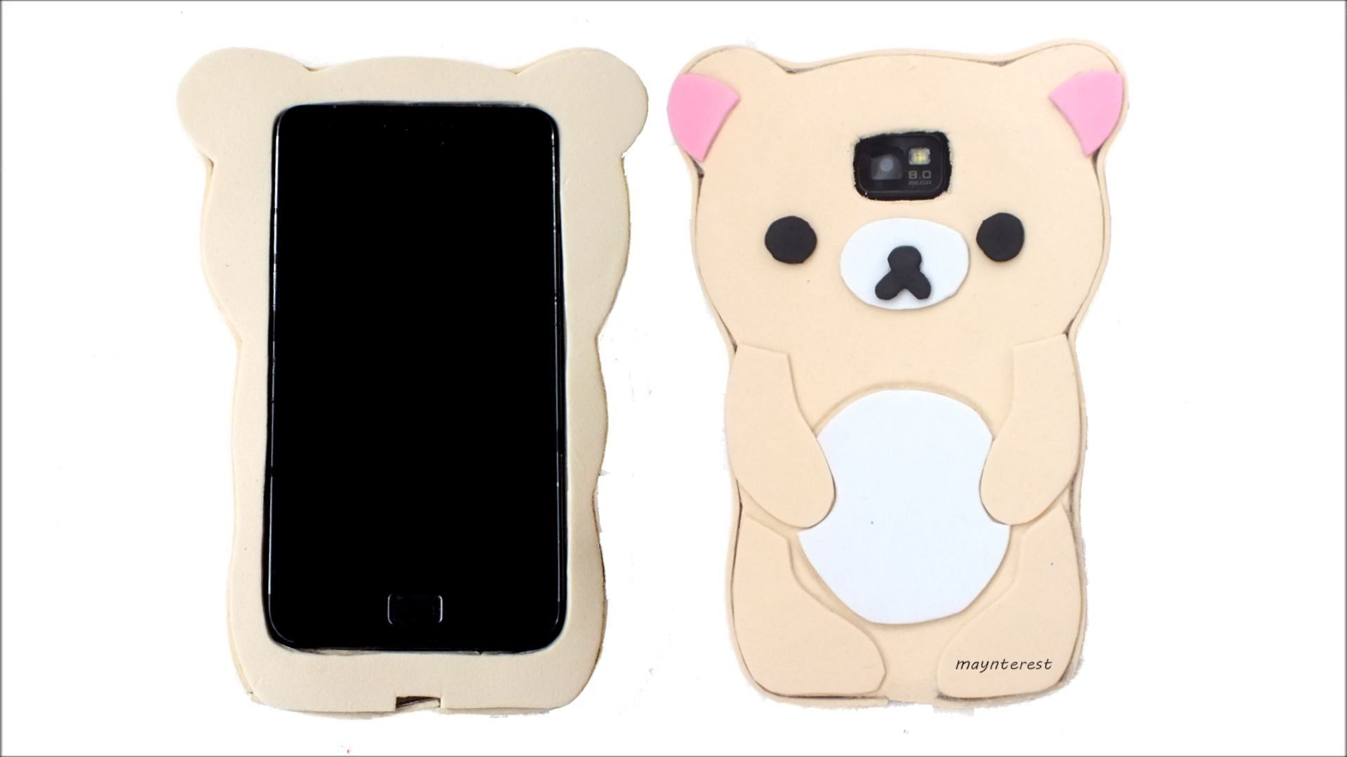 DIY How to make a Korilakkuma Rilakkuma phone case - Kawaii ...