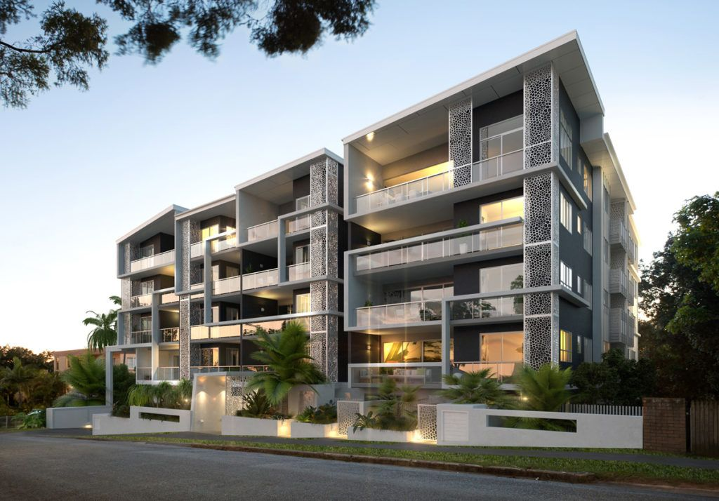 Lovely apartments exterior design beautiful modern for Modern style apartment