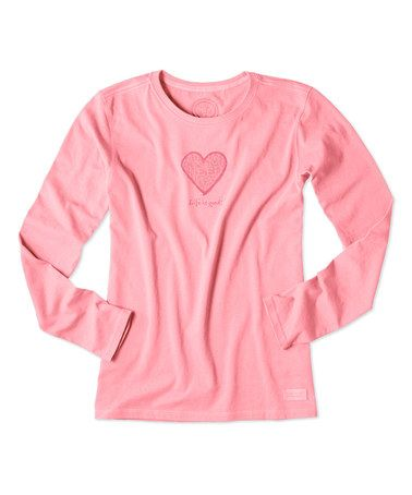 Another great find on #zulily! Blush Pink Message Heart Crusher Tee #zulilyfinds
