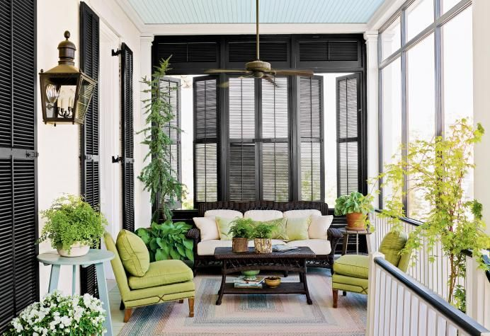 Turn a Porch Into an Outdoor Room with Shutters   Outdoor ...