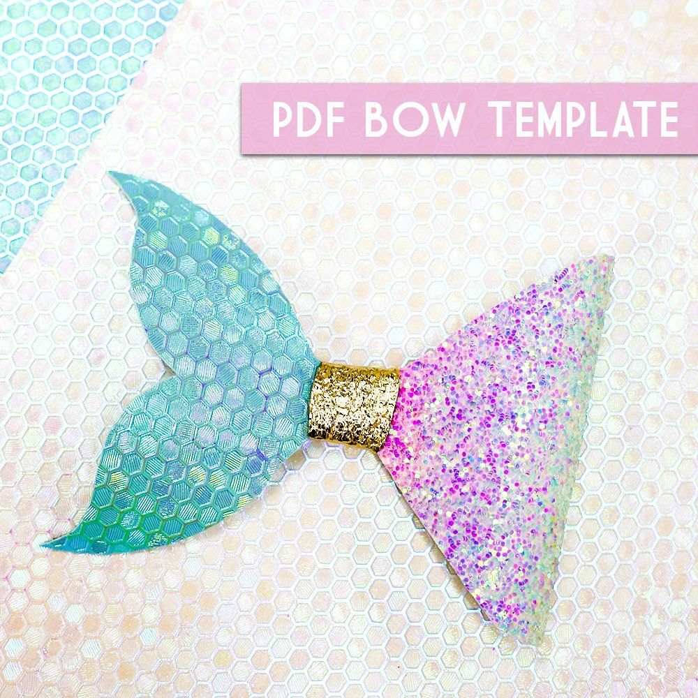 PDF Bow Template 8 Digital File Download