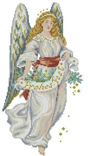 Angel  Cross stitch pattern pdf format by sunshinehomedecor, $5.50