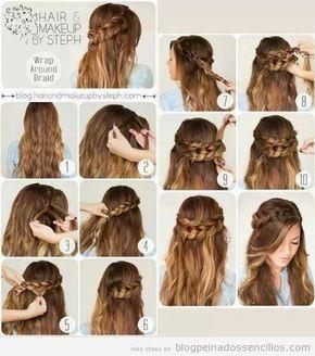 Peinados Con Trenzas Y Pelo Suelto Para Adolescentes Paso A Paso Peinados Poco Cabello Peinados Cabello Corto Peinados Con Trenzas