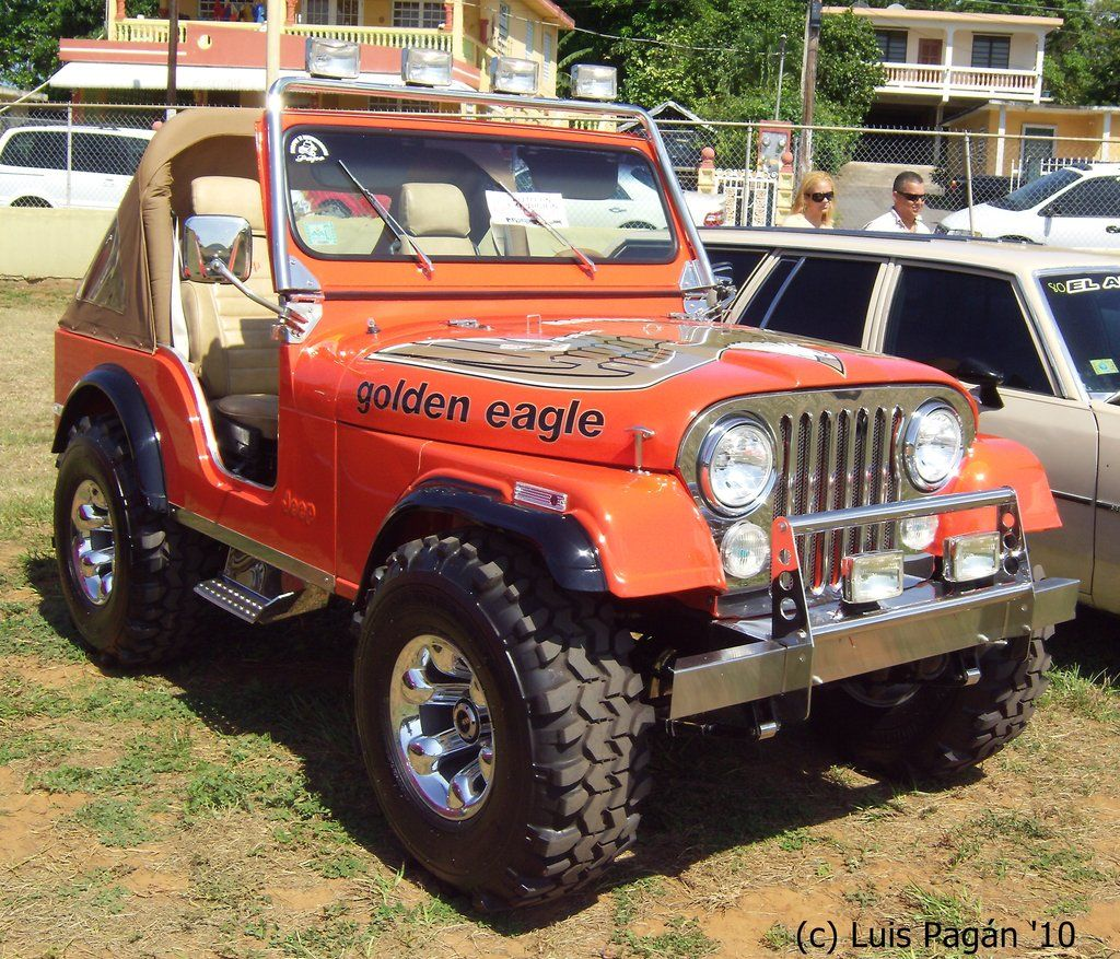 Orange Jeep Cj5 Golden Eagle By Mister Lou On Deviantart Jeep