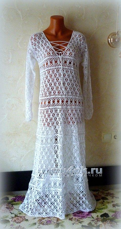 4b35b2efb4d Платье крючком. Работа Олеси Петровой вязание и схемы вязания ...