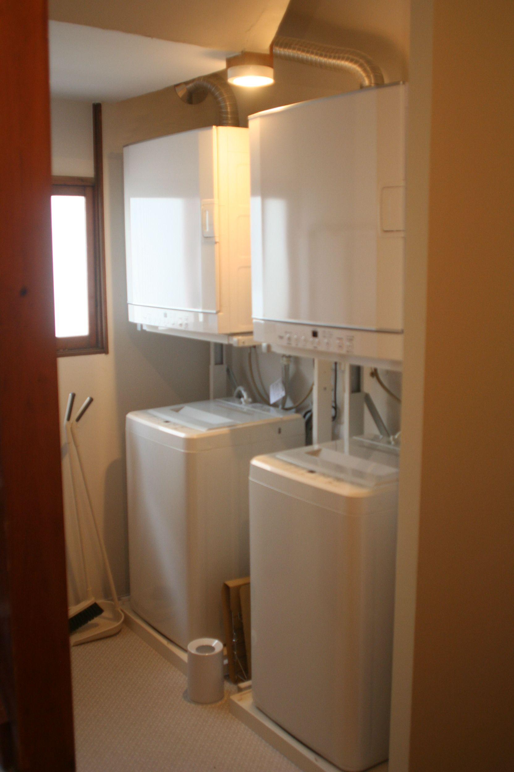 洗濯場です 乾燥機は2台ともガス式です ガス乾燥機 乾燥機 バス