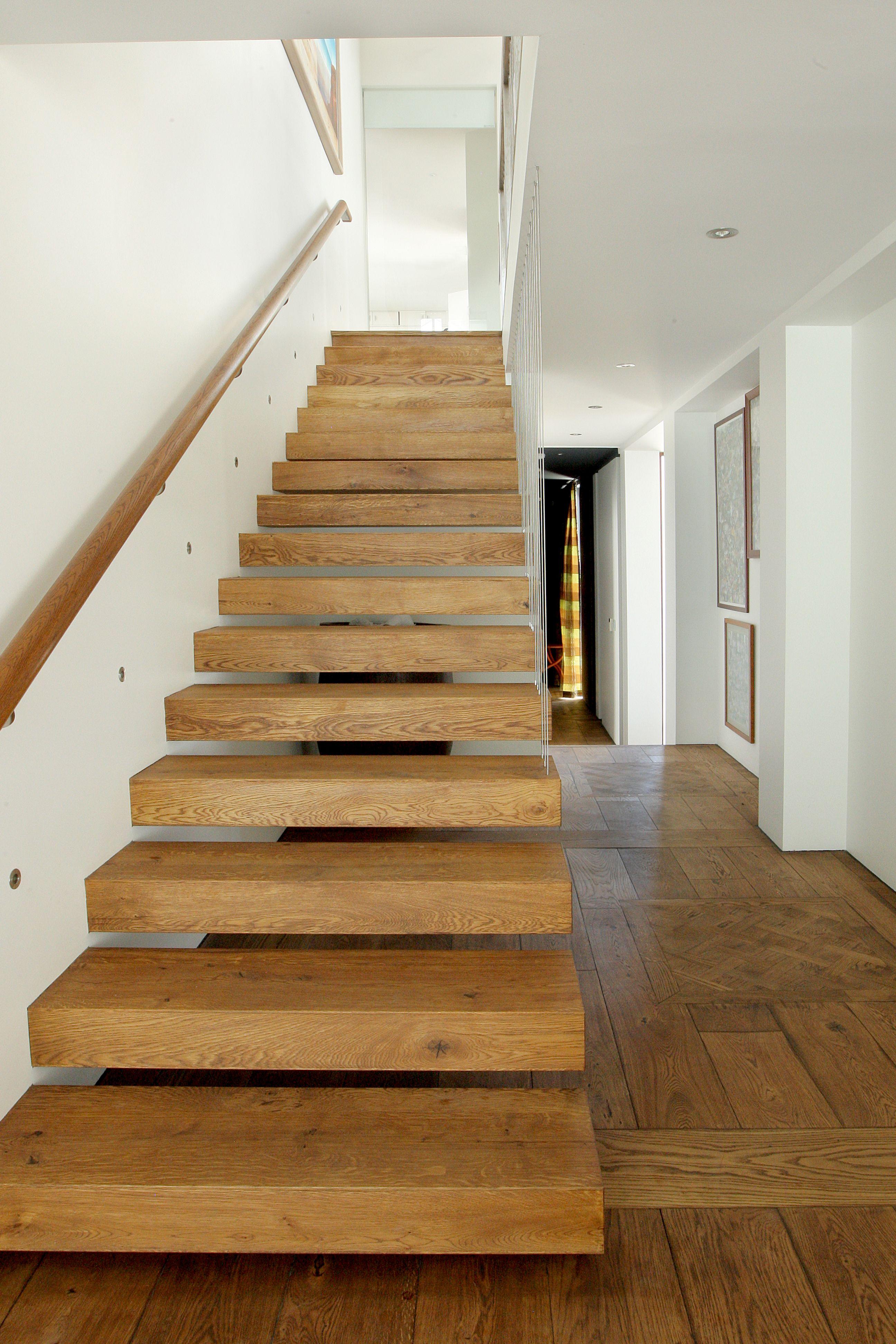 Best Open Tread Oak Stair Timber Staircase French Oak 400 x 300
